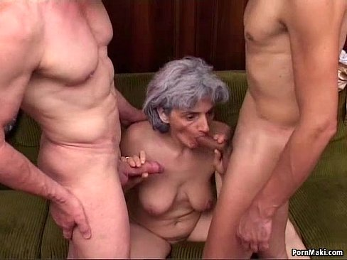 Porn granny dp Double
