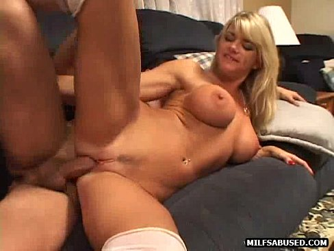 A Sexy Blonde Babe In White Stockings Is Fucking Xnxx Com