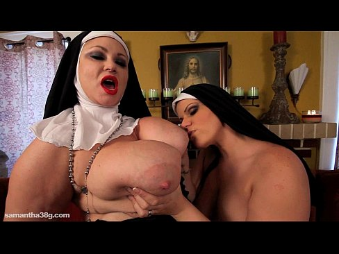 Big Tit BBW Lesbian Nuns Fuck Themselves with huge Toys ...