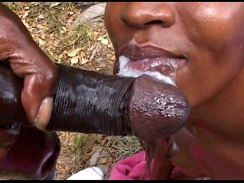 Thick Black Girl Sucking Dick