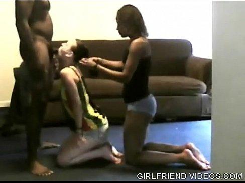 Two White Guys Fuck Black Girl
