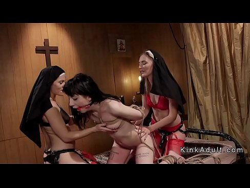 Three black lesbians eating pussy studying
