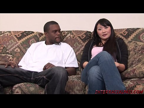 Horny Asian Wife Lena Sucks A Big Black Dick Then Is Fucked And