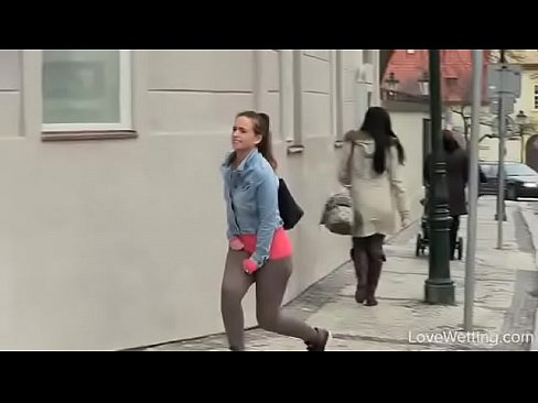Girl Touches Herself Public