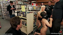 Blonde Ash Hollywood in public move store pussy...
