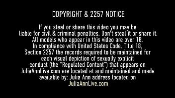 Hot Huggable Hooters MILF Julia Ann puts her big breasts to use by titty fucking the cum right out of that throbbing manhood! Lucky mofo! Full Video & Julia Ann Live @ JuliaAnnLive.com!