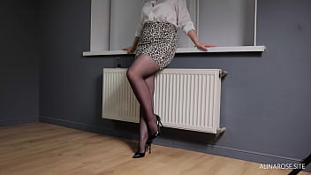 Fucked doggystyle in Anal and Cum in Ass a new Secretary in Pantyhose