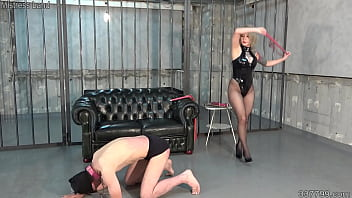 Japanese Mistress Jyun and Nao Whipping and Step on his Dick